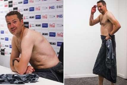 Neobična proslava plasmana u ligu Evrope: Trener belgijskog tima došao bez odjeće na pres konferenciju