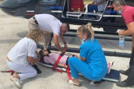 """""""Svaka minuta važna"""" Djevojčica u teškom zdravstvenom stanju helikopterom prebačena iz Berkovića  u UKC RS"""