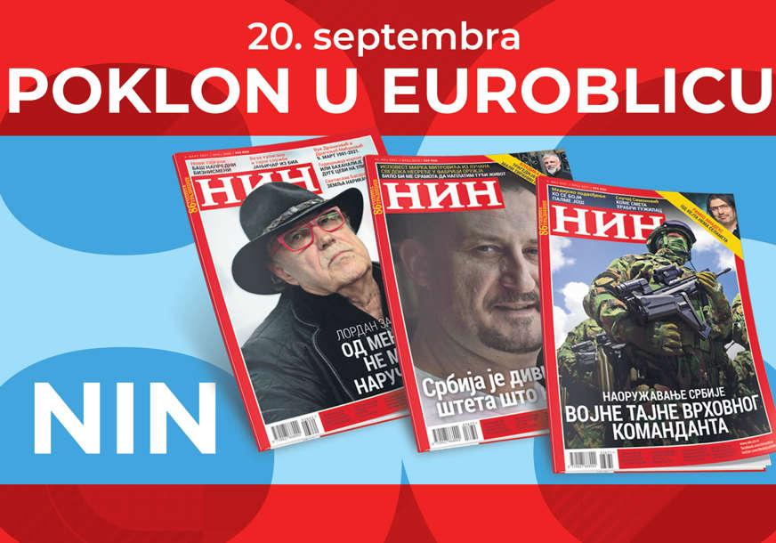 """NE PROPUSTITE Uz """"EuroBlic"""" besplatno dobijate nedjeljnik NIN"""