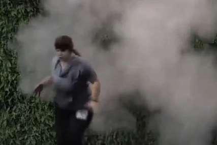 Požar u Zadruzi, kulja dim na sve strane: Miljana Kulić prestravljena vrištala i vikala na sav glas (FOTO)
