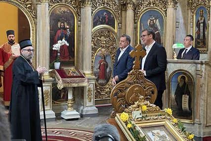 Dodik i Vučić posjetili Crkvu svetog Đorđa u Budimpešti: Dobrodošlicu im poželio episkop Lukijan
