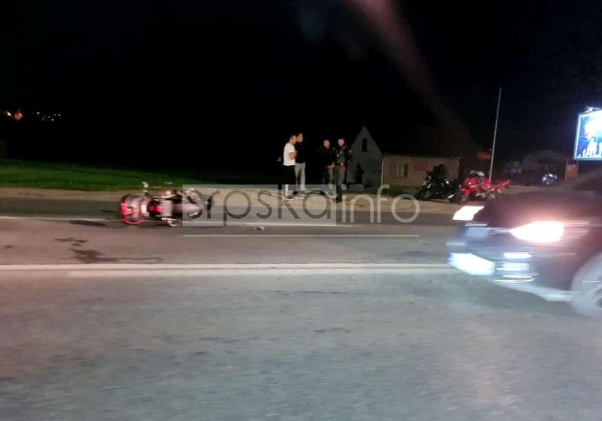 Motociklista prevezen u UKC RS: Detalji saobraćajne nesreće kod Banjaluke (FOTO)