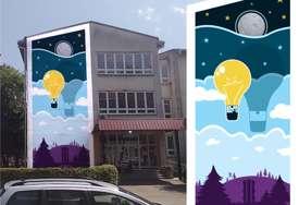 Prijedorčanin čiji je rad POSLAT U SVEMIR: Dragan Inđić oslikava osmi mural u gradu na Sani