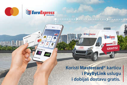 Sa PayByLink uslugom EuroExpress brze pošte i Mastercard karticom DOSTAVA GRATIS