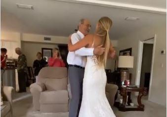 Njena ljubav nema granica: Unuka na dan vjenčanja prešla više od hiljadu kilometara da otpleše vjenčani ples sa bolesnim djedom (VIDEO)