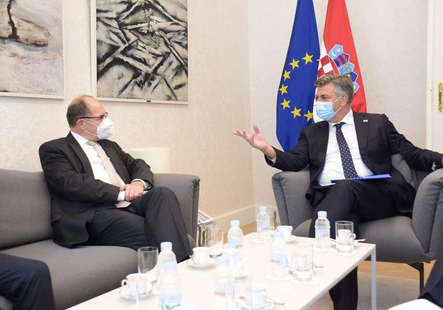 Kristijan Šmit se sastao sa Plenkovićem: Očekuje se da će tema razgovara biti i status Hrvata u BiH