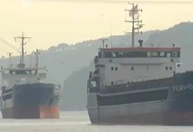 INCIDENT NA MORU Sudar ruskog i turskog teretnog broda u Bosforu (VIDEO)