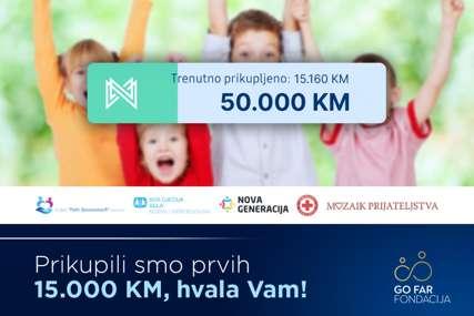 Koracima za humanost do cilja: GO FAR Fondacija donira prvih 15.000 KM