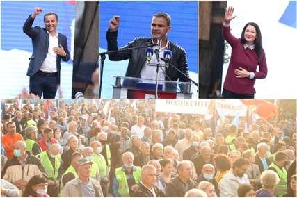 ZAVRŠEN PROTEST OPOZICIONARA Žestoki govori Vukanovića, Trivićeve i Stanivukovića, Trgom Krajine odzvanjali aplauzi (VIDEO, FOTO)